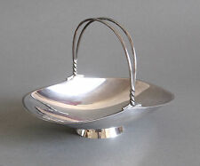 Wilhelm Binder Schale Silber 925 Henkel Körbchen Sterling Silver Bowl Korb