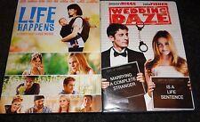 LIFE HAPPENS & WEDDING DAZE-2 movies-JASON BIGGS, KRYSTEN RITTER, ISLA FISHER
