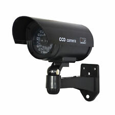 Outdoor Black Dummy Fake CCTV IR Wireless Security System Flash Red Led Camera