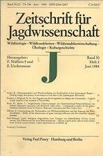 Zeitschrift für Jagdwissenschaft 2/1984 Hase mit 5 Läufen, Rothirsche
