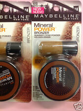 3 X Maybelline Mineral Power Bronzer Shimmer Loose Powder ( Sunset Bronze #610)