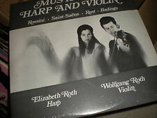 Music for Harp and Violin NEW VINYL Wolfgang Roth and Elizabeth Roth
