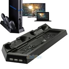 New Dual USB Fan Cooler Cooling Charging Dock Station Vertical Stand for PS4