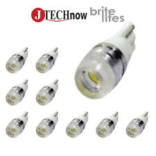 10x T10  Wedge High Power Super 1.5W Xenon White LED Light Bulb 194 168 2825 W5W