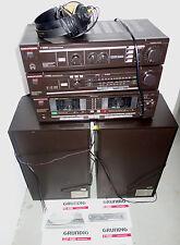 RARITÄT! Grundig T V CCF 4080 Stereo Hifi Anlage Radio Verstärker Boxen