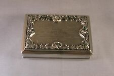 ANTIQUE STERLING SILVER SNUFF BOX BY EDWARD JOSEPH, BIRMINGHAM, 1836
