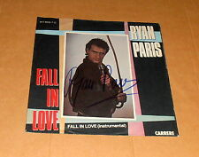 Ryan Paris *Dolce Vita, 1983* original signierte 7`Single-Cover (mit Single)