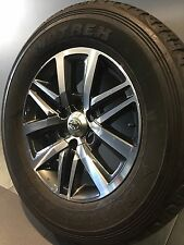 """Toyota Hilux SR-5 MY16 Genuine 18"""" Alloy Wheels And Dunlop Tyres"""