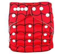 Reusable Baby Infant Nappy Modern Cloth Diapers and Insert, Spider Web