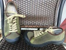 Keen Mary Laceup Flats Womens Shoes Leather Suede Size 7.5 Army Green
