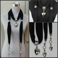 Fashion  Women's heart pendant necklace jewelry scarf scarves shawl