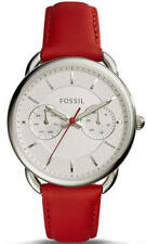 Women's Fossil Tailor Multi Function Red Leather Strap Watch ES4122