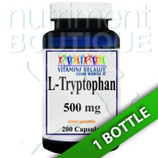 L-Tryptophan 500mg 200 Capsules by Vitamins Because Your Worth it