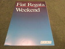 May 1987 Fiat REGATA WEEKEND Estate - FRENCH FOLDER BROCHURE