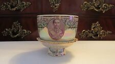 Rare VINTAGE 19th  Century Benjarong King of Siam  RAMA  V  Hand Painted   BOWL