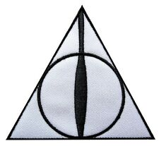 Harry Potter Deathly Hallows Logo Embroidered Patch Officially Licensed