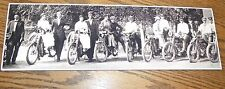 Vintage Photo of motorcycle couples