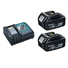 Makita DC18RC Battery Charger with 2 BL1840B LXT 18V 4 Ah Batteries w/ Indicator