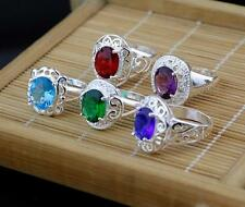 Wholesale 5pcs NF 925 Silver Jewelry CZ Mixed Zircon Rings Sz.7-9