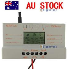 30A MPPT Solar Panel Regulator Charge Controller 12V/24V 380W/760W With LCD USB