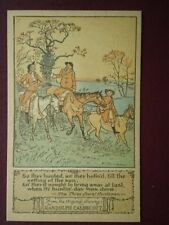 POSTCARD RANDOLPH CALDECOTT - SO THEY HUNTED AN THEY HOLLO'D