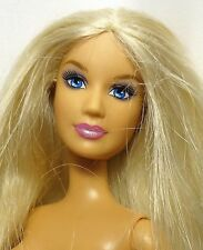 Barbie Doll blonde Blue eyes Belly Button model Bendable legs Nude