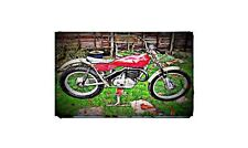 1971 Bultaco Sherpa Bike Motorcycle A4 Photo Poster