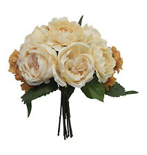 KHAKI BEIGE ~ CABBAGE ROSE HYDRANGEA Bouquet Silk Wedding Flowers Centerpieces