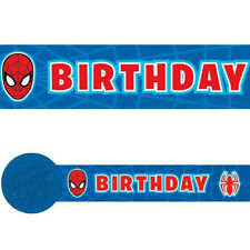 30ft Marvel Spiderman Superhero Birthday Party Crepe Paper Streamer Decoration