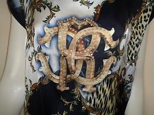 SALE ! OUTLET  ROBERTO  CAVALLI   WOMAN'S   TUNIC / DRESS   BLUE  SIZE   S - M