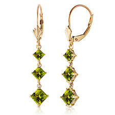4.79 Carat 14K Solid Gold Chandelier Earrings Peridot