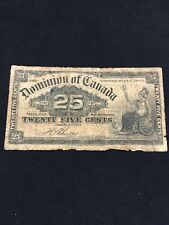DOMINION OF CANADA 1900 SHINPLASTER 25 CENTS BOVILLE SIGNATURE