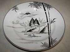 """Kutani Mt. Fuji Village Scene Salad Plate 7 1/4"""" Hand Painted KUT78"""
