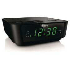 Philips AJ3116M Black Digital Tuning Dual Alarm Clock FM Radio with Sleep Timer