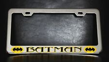"""BATMAN"" License Plate Frame, Custom Made of Chrome Plated Metal"