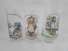 Hollie Hobby Glass Set of 3 Coca Cola AGC Vintage