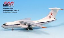 Russian Air Force Red 01 IL-76/976 Airplane Miniature Model Metal Die-Cast 1:500