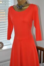 Beautiful ⭐️ Reiss ⭐️ 'Hawn' Coral Jersey Fit & Flare Dress Size 12