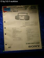 Sony Service Manual CFD S28L Cassette Recorder (#5072)