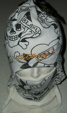 Ed Hardy Snow hat cap Ski Board winter face mask earphone pocket Skull Xmas goth