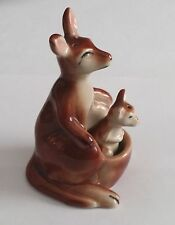 Vintage Mama kangaroo with baby salt and pepper shakers Japan