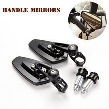 "Universal Billet Aluminum 7/8"" 22 Bar End Side Rearview Mirrors for Motorcycle"