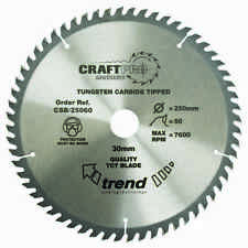 Trend Craft saw blade 250mm x 48 teeth x 30mm CSB/25048 FREE 1ST CLASS DELIVERY