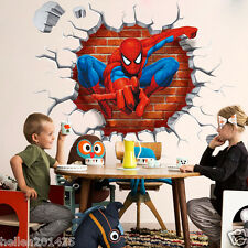 3D Super Hero Spider Man Wall Sticker Vinyl Decor Decals Kids Room Nursery Mural