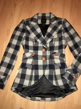 Smythe Buffalo Check Plaid Wool Riding Hunting Equestrian Jacket Blazer Size 8