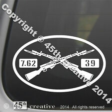 SKS assault Rifle Oval Decal - soviet military surplus 7.62x39 rifle sticker