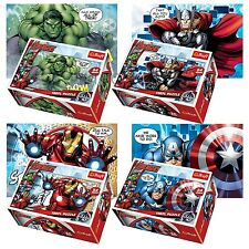Trefl Mini 4 x 54 Pieces Kids Boys Avengers Team Hulk Thor Jigsaw Puzzle NEW
