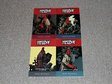 Lot of 4 Mike Mignola Hellboy Graphic Novels (1-4): Seed of Destruction More