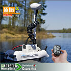12V 55LBS Variable Speed Bow Mount Electric Trolling Motor Cayman White
