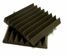 "50 Tiles 12""x12""x2"" Thick Studio Foam Acoustic Soundproofing Wedge/Pyramid Foam"